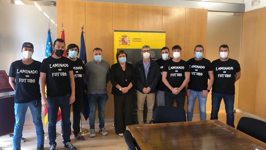 La delegación de Gobierno muestra su apoyo a Pilkington