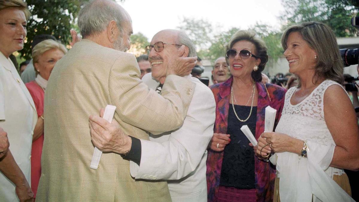 Antonio Ferrandis junto al también actor José Luis López Vázquez