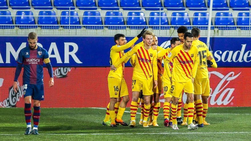 Un Barça caritativo gana por la mínima en Huesca