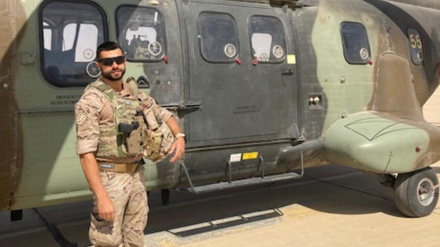 """Edey Navarro, sargento canario en Irak: """"Trabajar con militares de otros países nos enriquece como personas"""""""