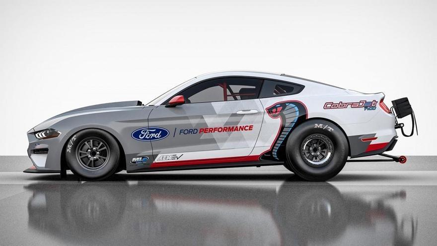 Ford presenta el Mustang Cobra Jet 1400, un prototipo eléctrico para ganar carreras de aceleración