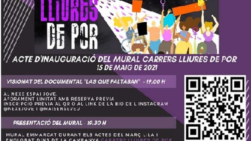 Inauguració Mural 'Carrers Lliures de Por' + Projecció