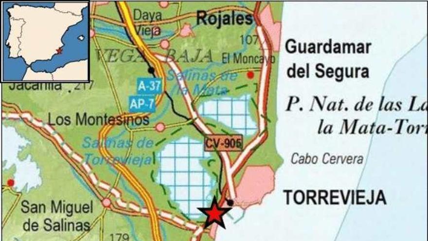 El terremoto de Torrevieja ha tenido una magnitud de 1,7 en la escala de Richter