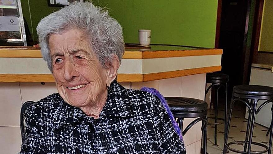 """Fallece con 105 años la """"abuela"""" de Quirós, Josefa Viejo, natural de Bermiego"""