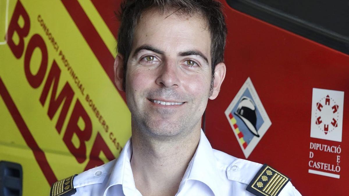 Pablo Vila, inspector jefe del Consorcio Provincial de Bomberos.
