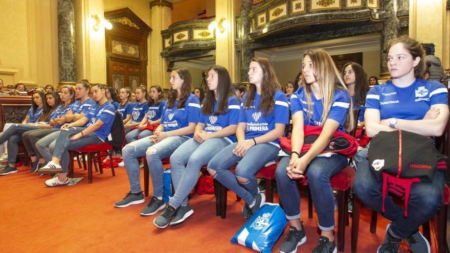 Las futbolistas del Dépor Abanca, en María Pita