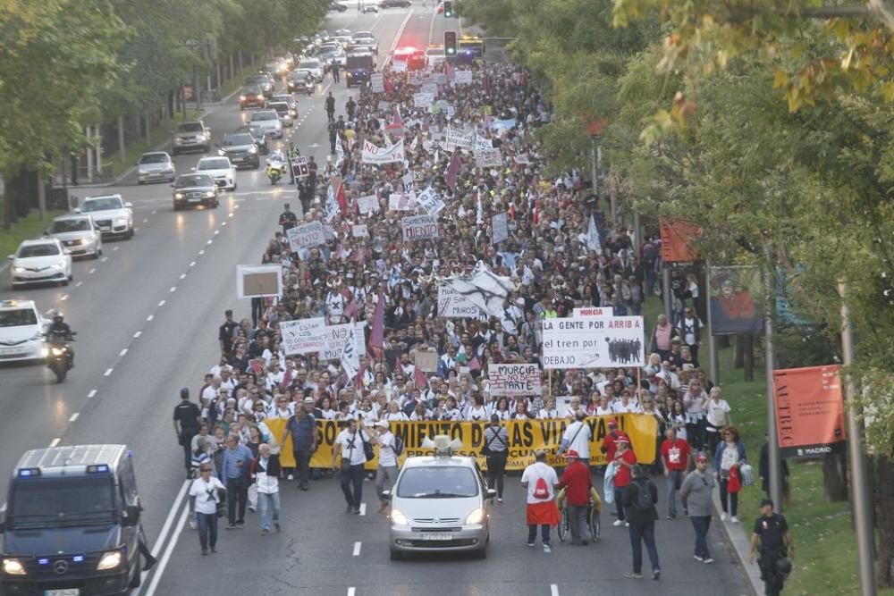 Manifestación contra el muro de Murcia en Madrid