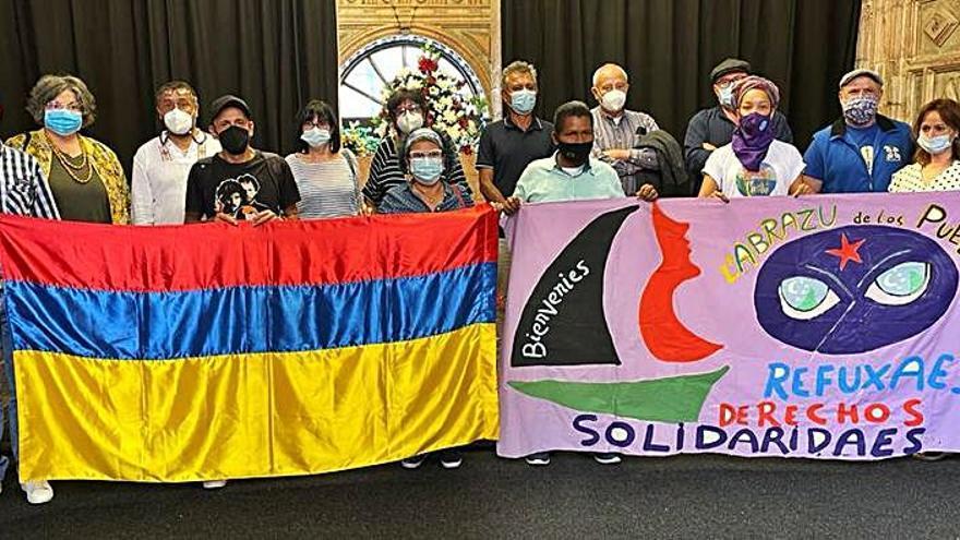 Grado recibe a cinco refugiados políticos procedentes de Colombia