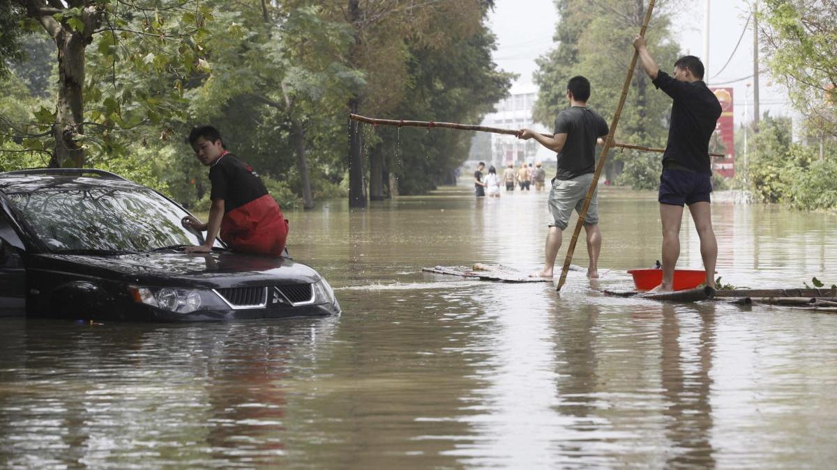 Imagen de una inundación en China