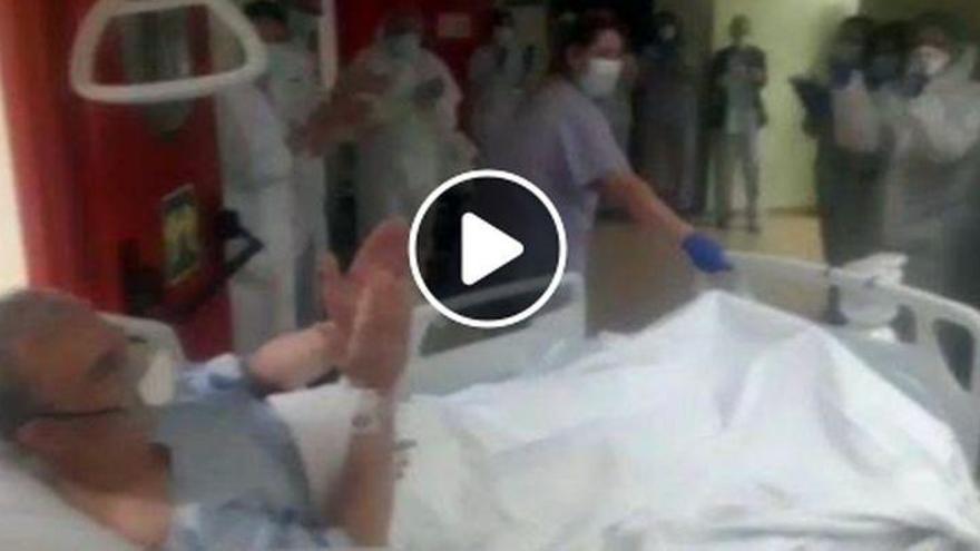 Sale de la UCI del Hospital General el segundo paciente afectado de coronavirus