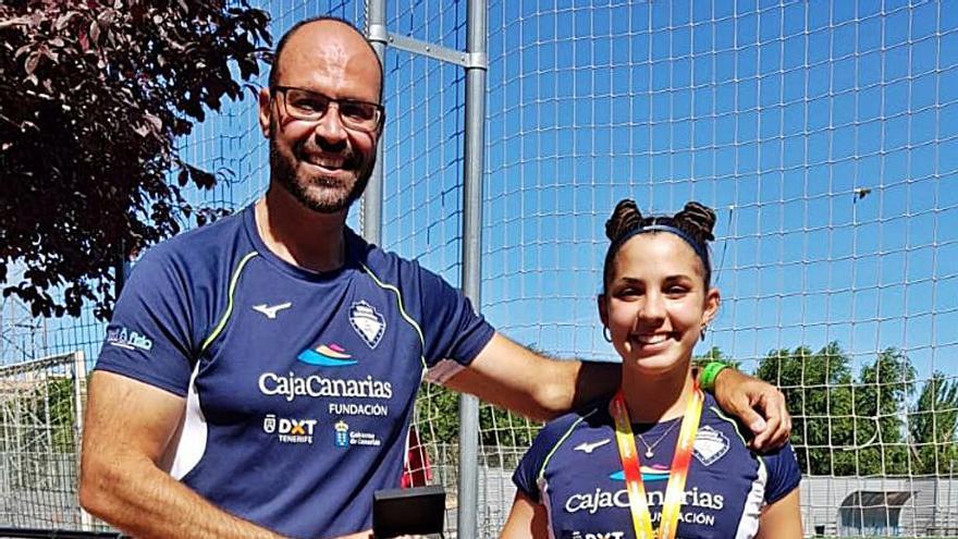 Emma García, bronce y mejor marca en lanzamiento de disco