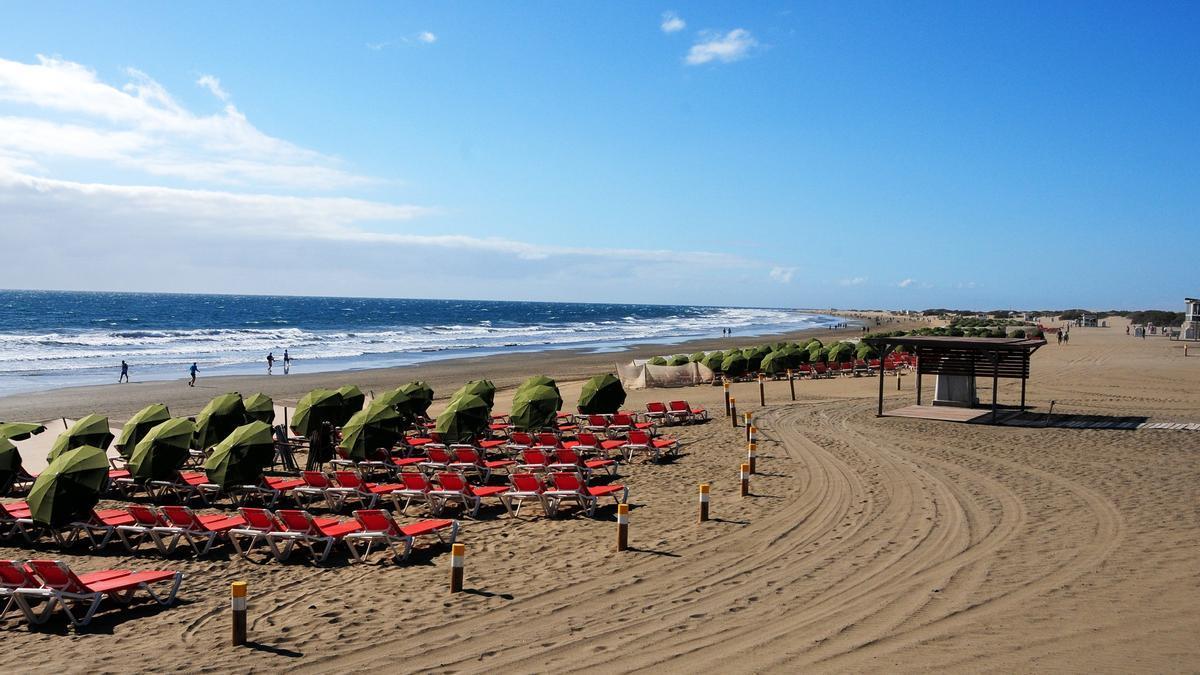 Playa del Inglés (Gran Canaria).