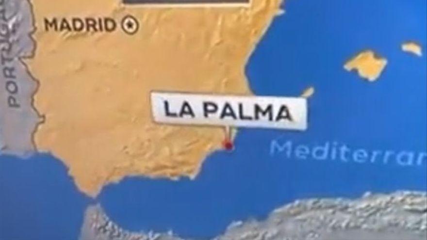 Una cadena americana sitúa el volcán de La Palma en Murcia
