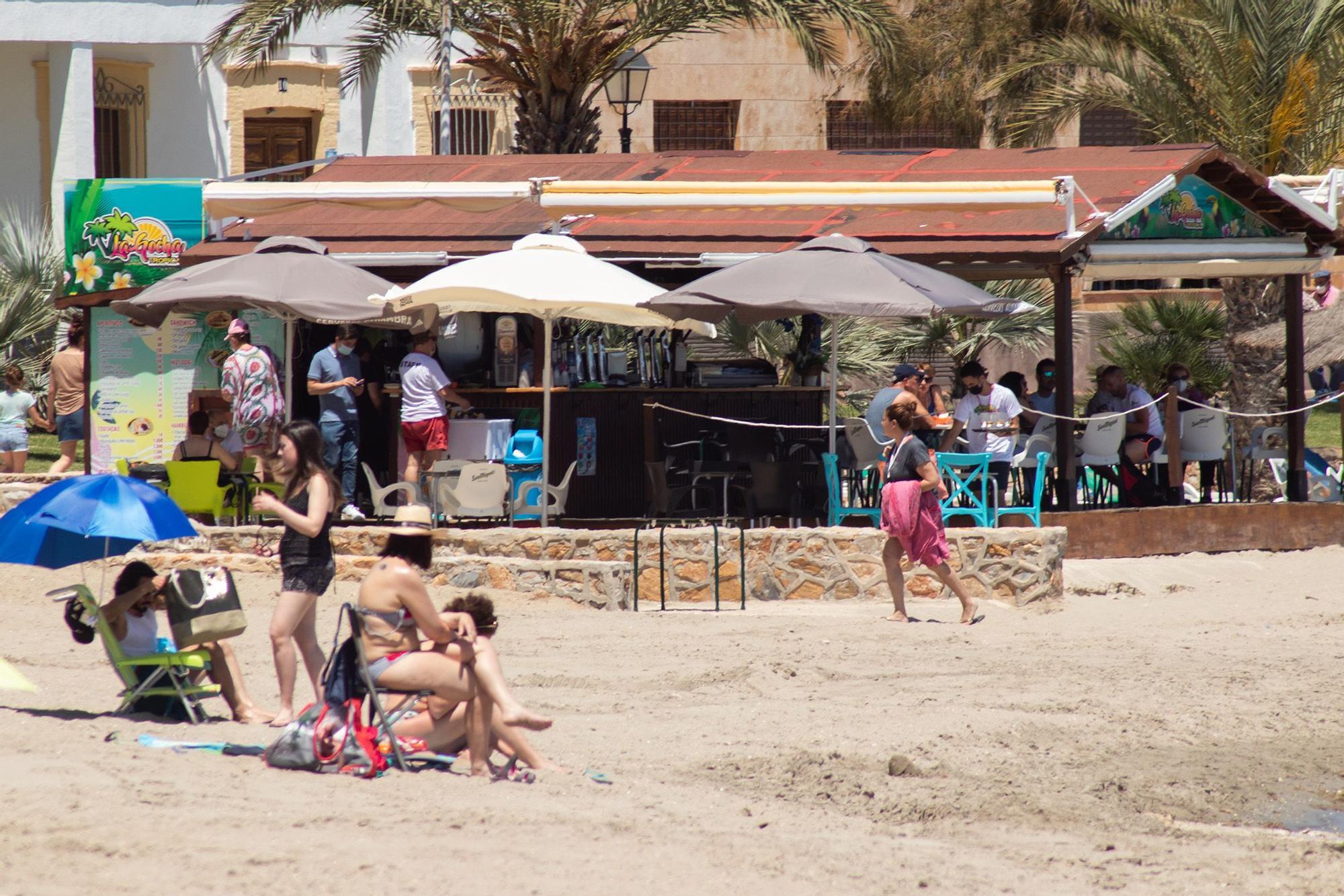 Así están las playas del Mar Menor en el primer fin de semana sin cierre perimetral