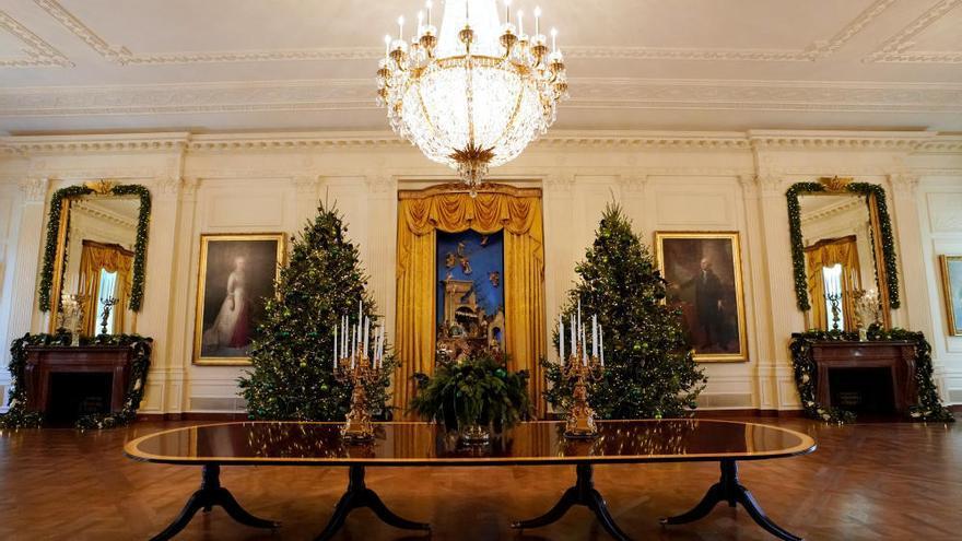 Melania Trump ensenya la decoració de Nadal de la Casa Blanca