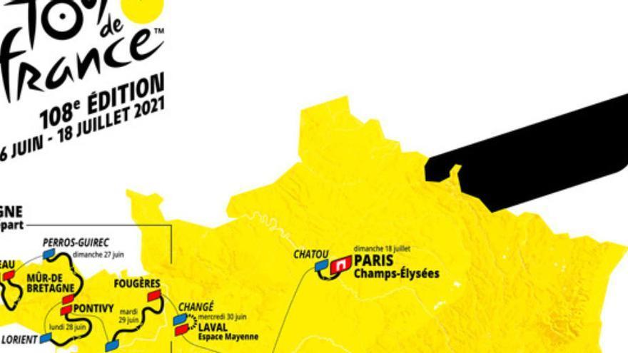 MAPA | El Tour 2021 es jugarà als Pirineus