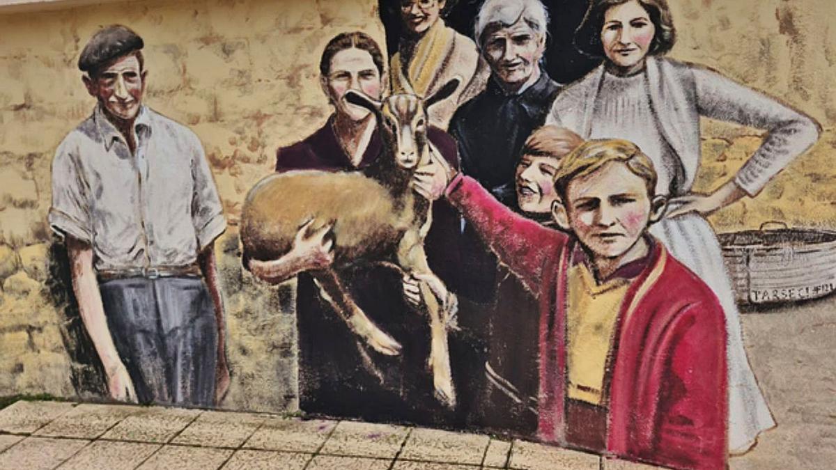 Uno de los murales que Parsec ya ha terminado en Olmillos de Valverde. | E. P.