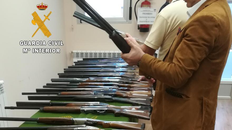 La Guardia Civil de Zamora organiza una subasta de armas