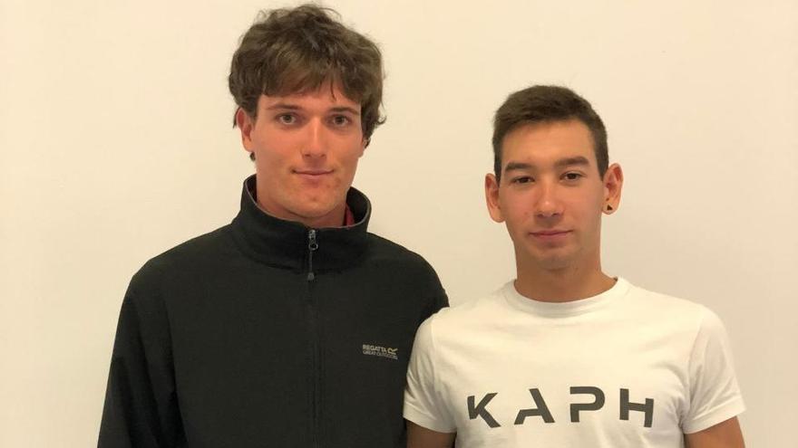 Alejandro Gómiz y Martín Gil viven su kilómetro cero en el Caja Rural-RGA amateur