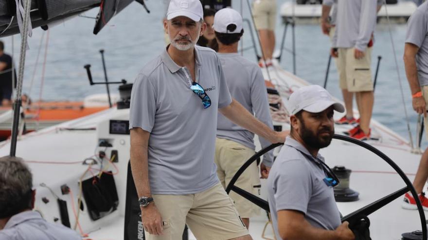 Felipe VI, preparado para su segundo día de competición