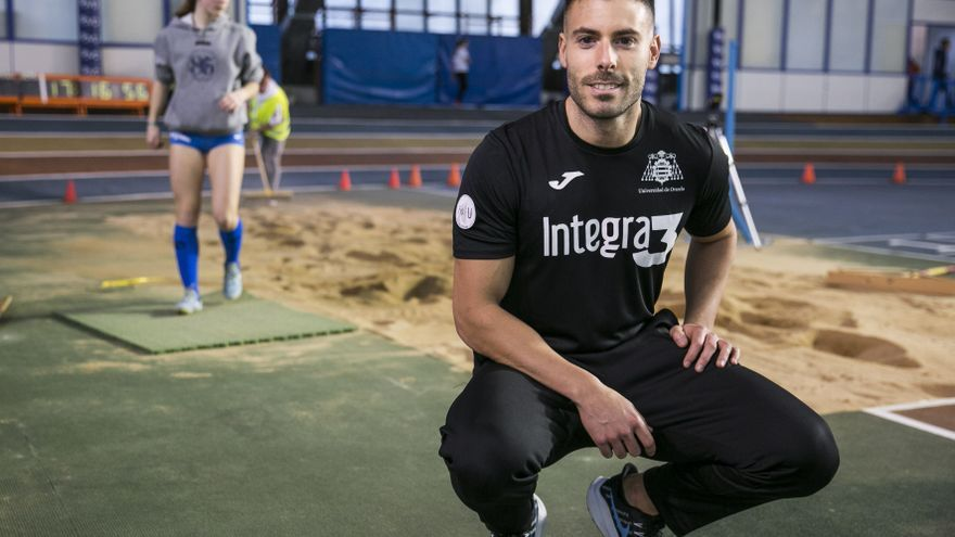 El asturiano Javier Cobián aspira a luchar por las medallas en el campeonato de España de atletismo