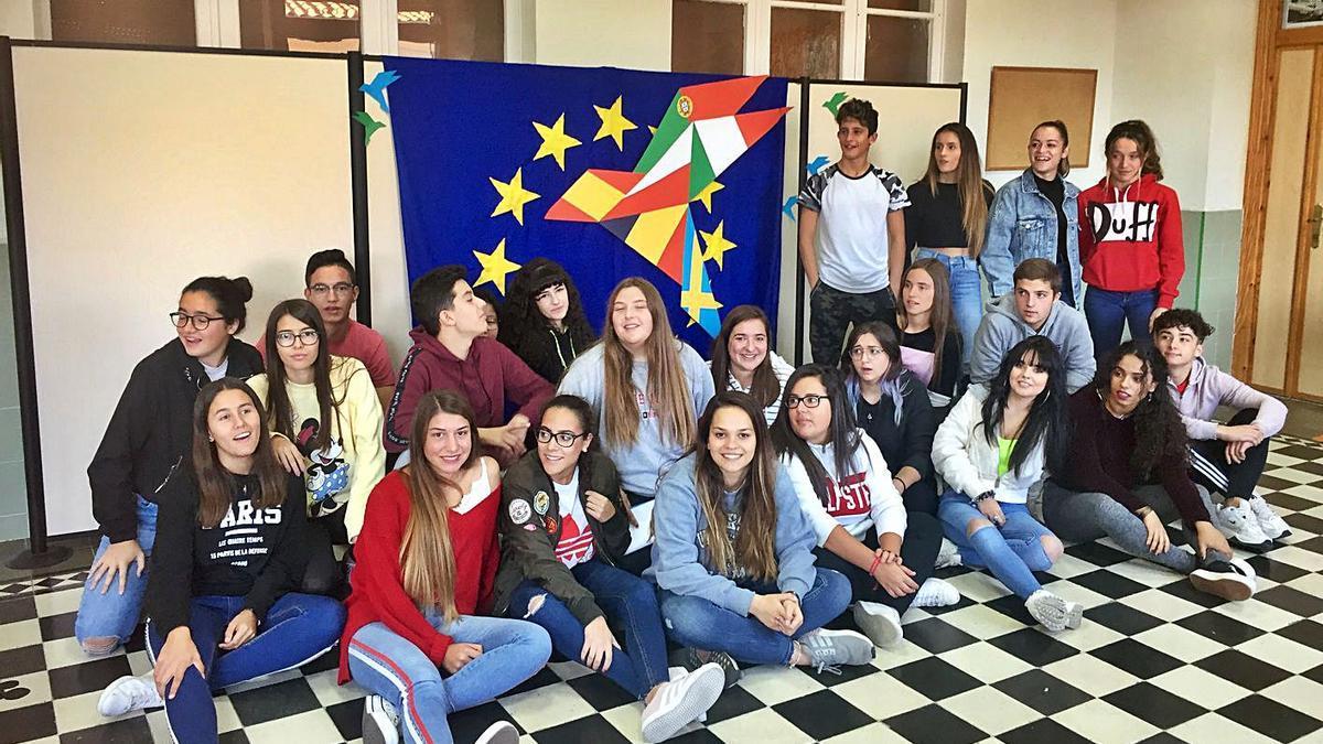 Alumnos del IES Fuentesaúco participantes en el proyecto Erasmus+ 4Cs. | Cedida