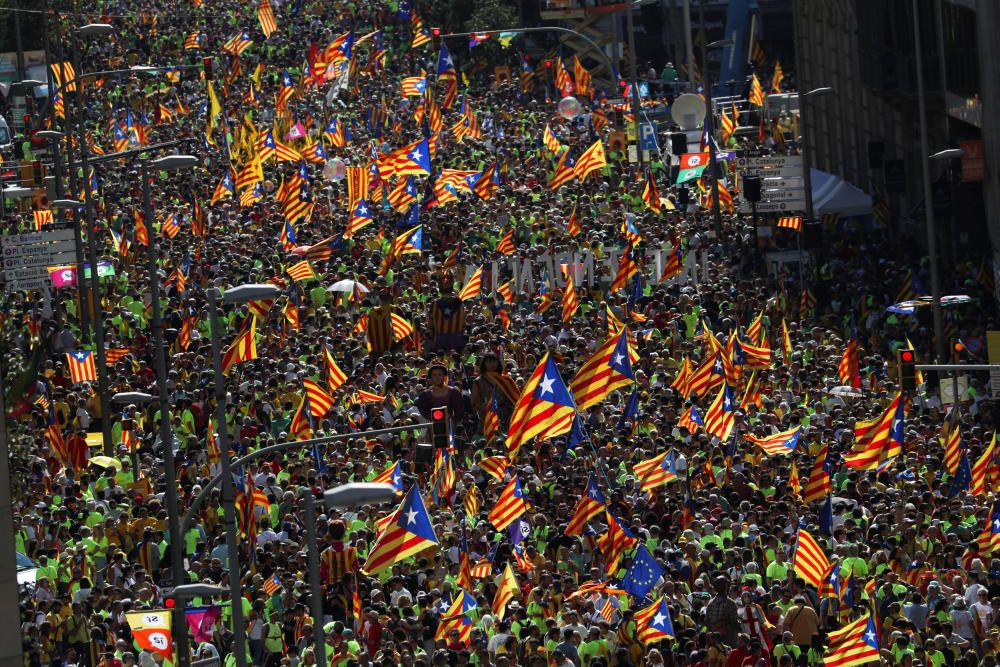 La manifestación de la Diada, en fotos