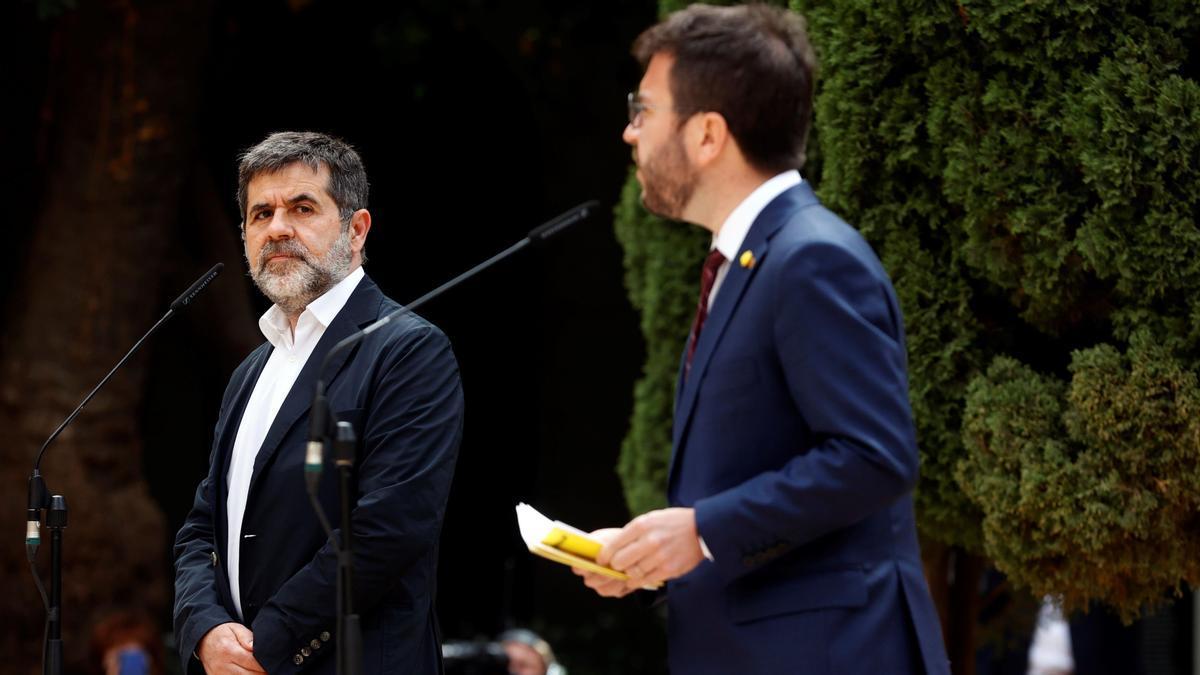 Pere Aragonés y Jordi Sànchez.