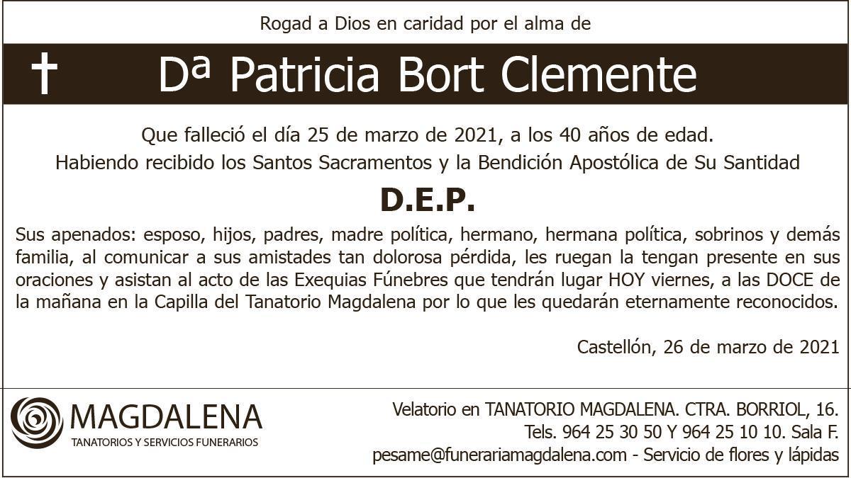 Dª Patricia Bort Clemente