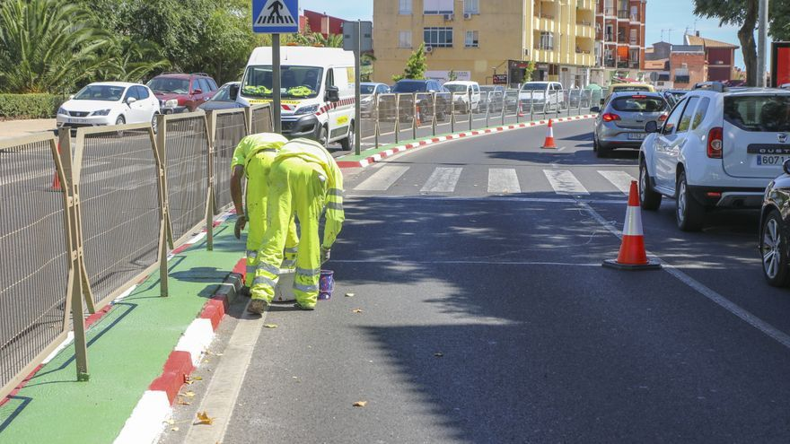 La avenida Virgen de Guadalupe de Cáceres tendrá solo un carril de subida hasta el 9 de septiembre