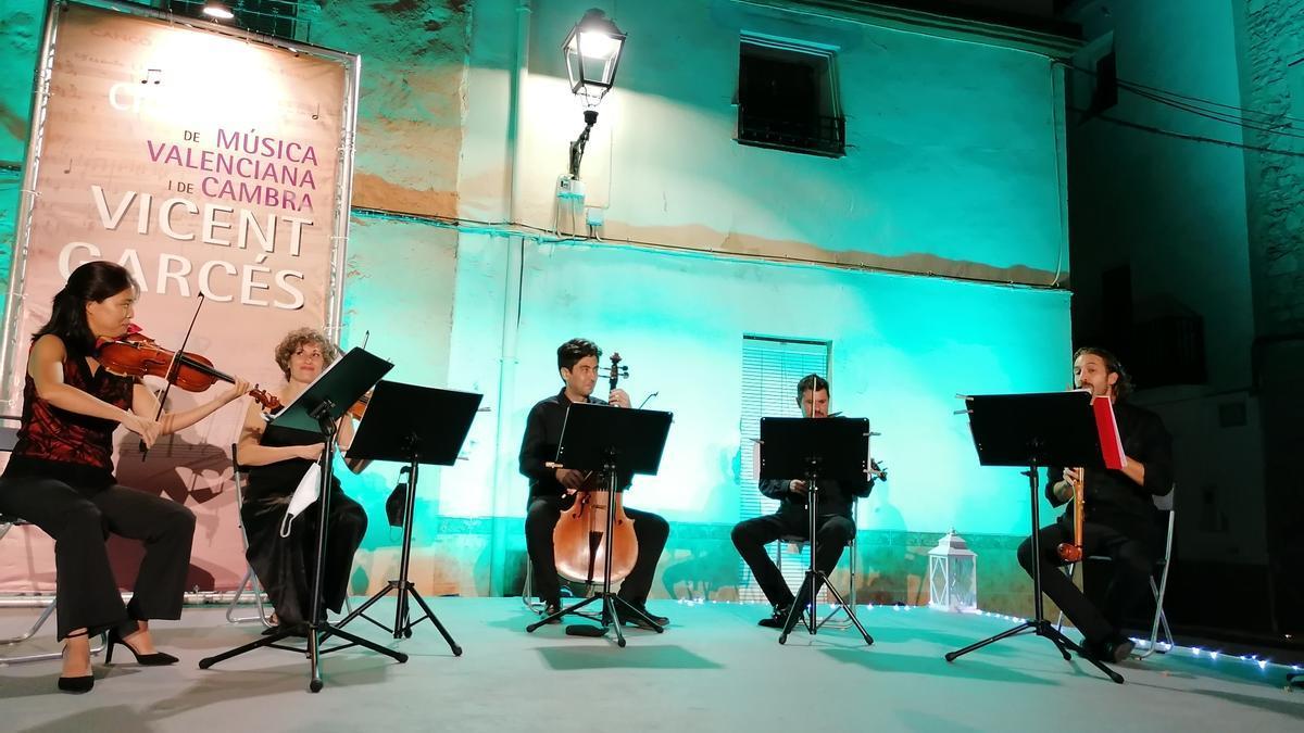 Un momento del concierto en Faura