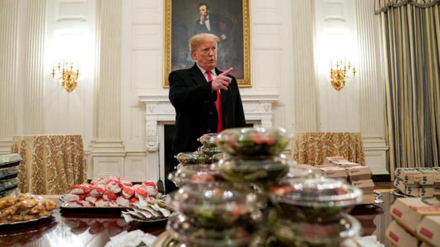 La Casa Blanca ofrece comida rápida en las recepciones