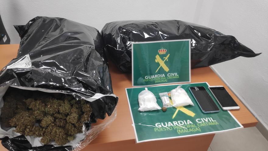 Dos detenidos por tráfico de drogas en sendos controles en Alhaurín de la Torre y Cártama