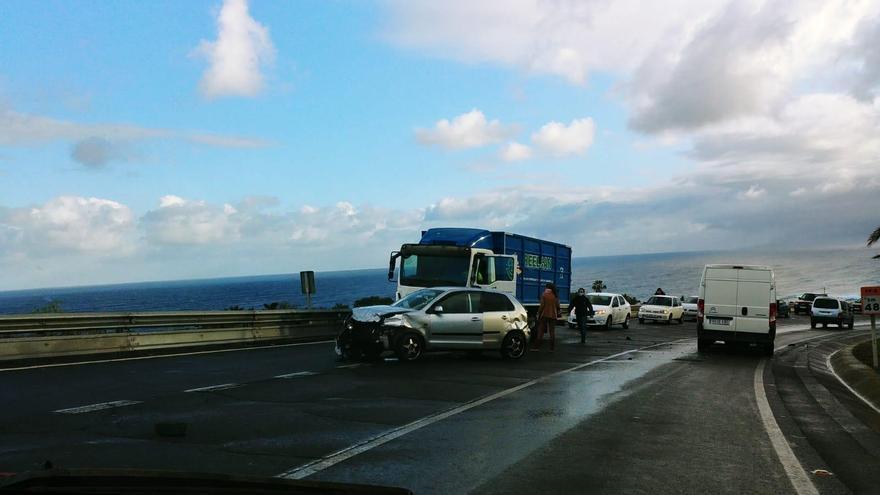 Accidente de tráfico en el norte de Tenerife