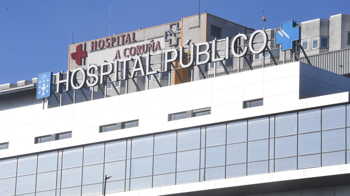 Fachada principal del Complexo Hospitalario Universitario da Coruña (Chuac).