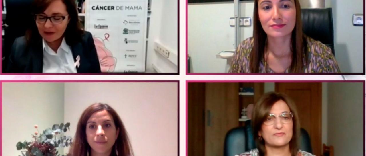 Participantes en la jornada online sobre el cáncer de mama, organizada por LA OPINIÓN-EL CORREO DE ZAMORA dentro de los Foros de Salud.
