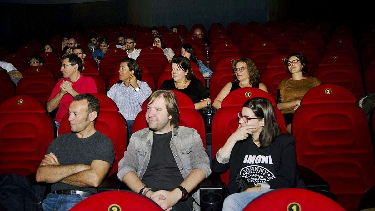 Pase de prensa de la película 'El desconocido', en 2015, en A Coruña.