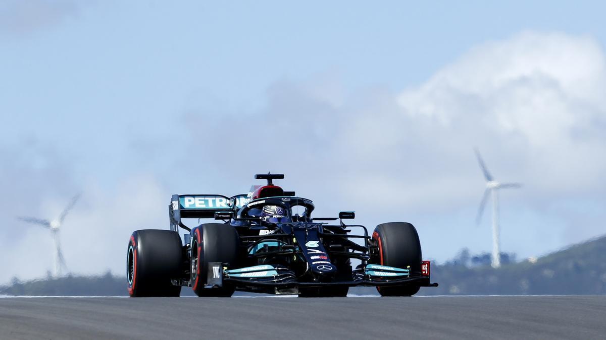 Lewis Hamilton, en el circuito del Algarve