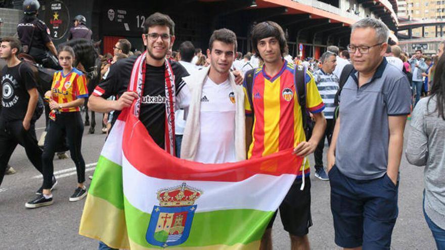 Prohíben entrar en Mestalla una bandera de La Rioja