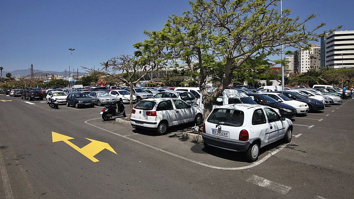 Aparcamientos del Parque Marítimo, en Santa Cruz de Tenerife.