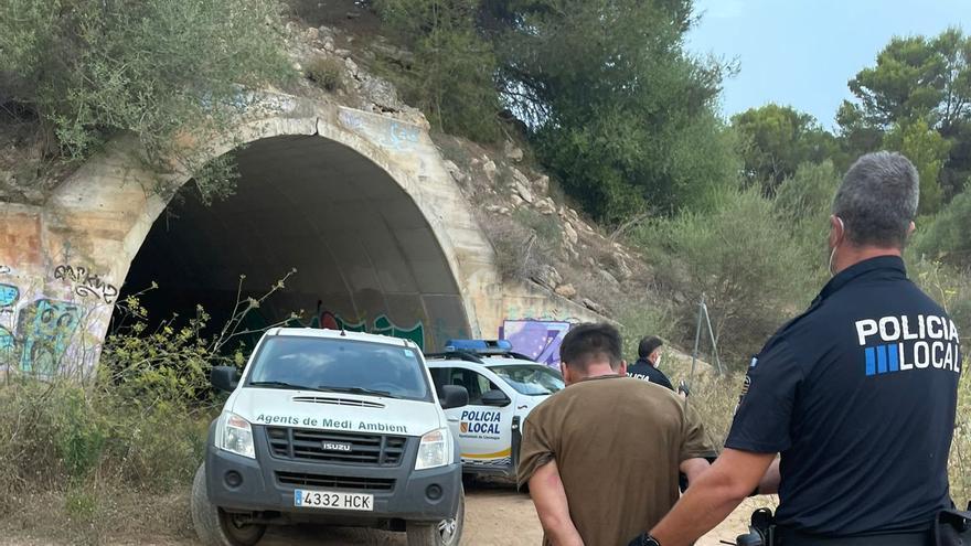 Capturan en s'Arenal de Llucmajor a un delincuente que robó una furgoneta con un perro