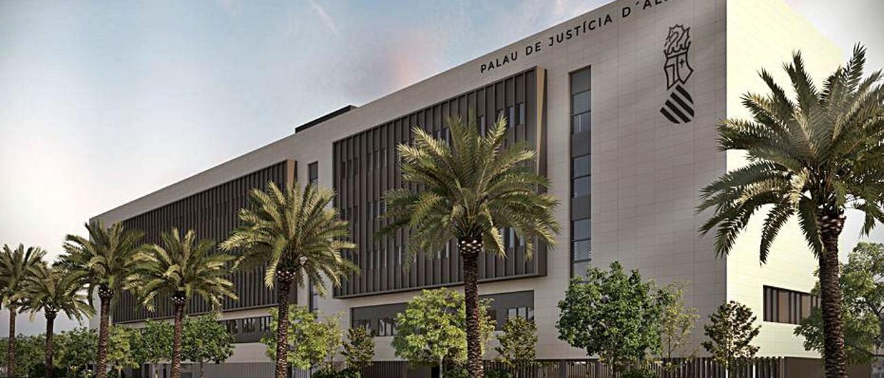 Imagen virtual del futuro Palacio de Justicia. | L-EMV