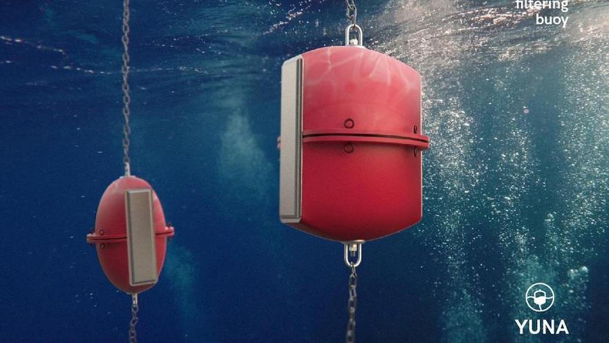 YUNA, la boya que filtra microplásticos diseñada por la Politècnica