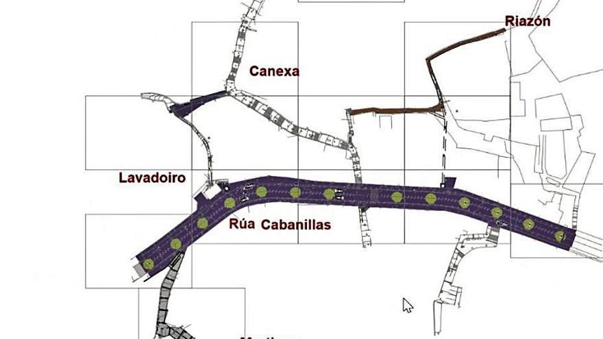 Dos ascensores y humanizar 200 metros de la calle Ramón Cabanillas para mejorar el centro de Moaña