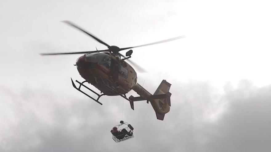 Helicópteros militares realizan prácticas de rescate en Pollença