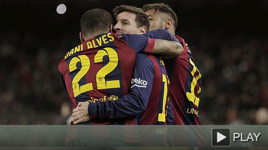 Messi da ventaja al Barcelona