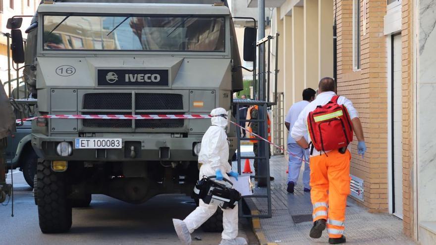 El ejército interviene en el geriátrico de Formentera del Segura con un brote de 27 contagios