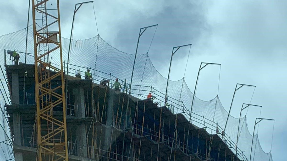 Una obra en la zona norte de la capital.