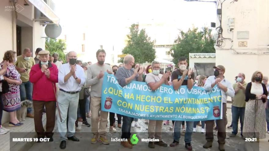 """El PSOE local de Alburquerque confirma que los trabajadores municipales cobrarán """"próximamente"""""""