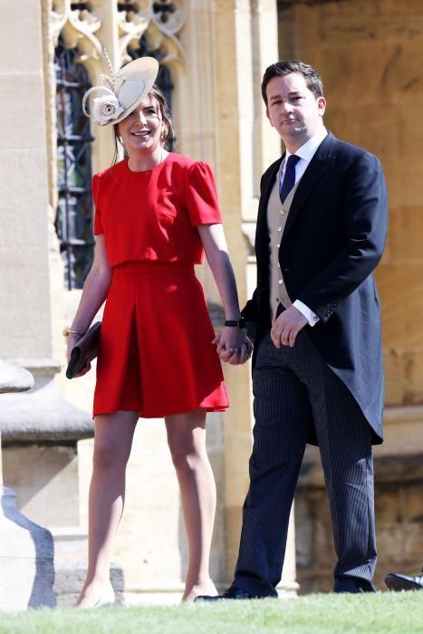 Rebecca Deacon y el futbolista Adam Priestley. / AFP PHOTO / POOL / Chris Jackson